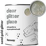 Glitzer-Lasur von Hemway für bereits gestrichene Wände, 1 l, klar