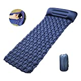 Camping inflatable sleeping mat, Ultralight camping sleeping pad, LYCRA, width 80cm, thickness 7cm