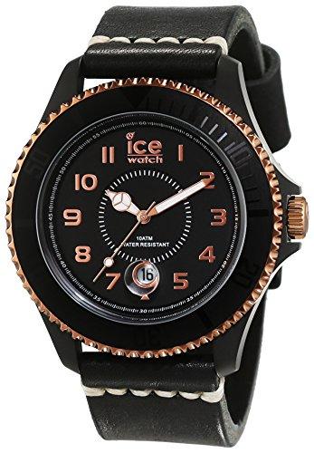 Ice Watch Ice Heritage orologio analogico unisex al quarzo con quadrante nero e cinturino in pelle nero HE.BK.BZ.b.l.14