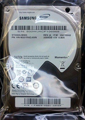 Samsung Spinpoint M9T/2TB 2000GB ST2000LM003, HN-M201RAD, (SATA3, 6,35 cm (2,5 Zoll), 9,5 mm) Festplatte für PS4, MacBook Pro, Notebook