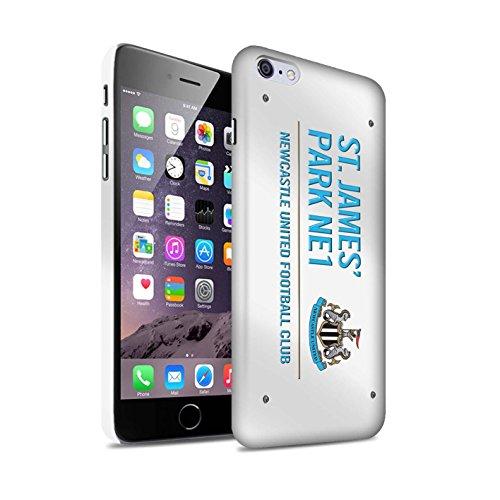 Offiziell Newcastle United FC Hülle / Matte Snap-On Case für Apple iPhone 6S+/Plus / Pack 6pcs Muster / St James Park Zeichen Kollektion Weiß/Blau