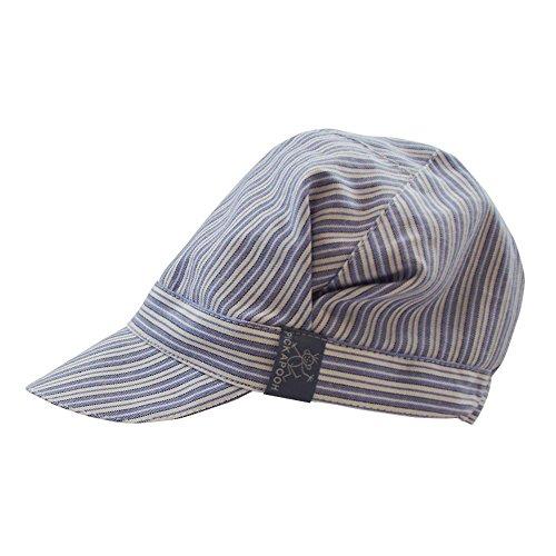PickaPooh Schirmmütze Rico für Kinder aus Reiner Bio-Baumwolle Blau/Weiß Gr. 54