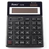 Nero portatile Calcolatrice a 12cifre standard della Calcolatrice a doppia alimentazione solare/batteria funzionamento calcolatrice da tavolo ufficio calcolatrice calcolatrice per ufficio casa rechenmaschine calcolatrice ca. 15x 20cm