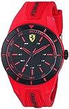 Ferrari De los Hombres 'redrev de Cuarzo Reloj Casual de Goma y Acero Inoxidable, Color: Rojo (Modelo: 840005)