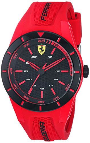 Scuderia Ferrari Homme Analogique Quartz Montre avec Bracelet en Caoutchouc 840005