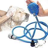 UKCOCO Herramienta de Baño para Mascotas - Rociador de Ducha para Mascotas y fregadora en uno - Accesorios de Baño para Perros y Gatos en Interiores y exterio