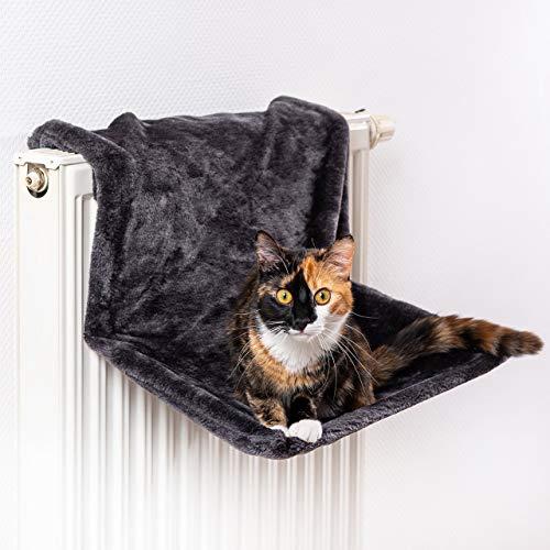CanadianCat Company ®   Liegemulde für Katzen in schwarz ca. 45x26x31 cm Katzen Heizungs-Liege XL
