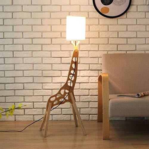 Lámpara de pie Torchier, Jirafa Lámpara de pie, de Bricolaje Estudio de Dibujos Animados de la Sala de Lectura Dormitorio de la lámpara de pie, Reunidos luz iluminación Ascendente de Madera