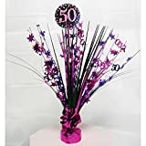 50th Birthday Spray Centrepiece Table Decoration Black Pink Purple