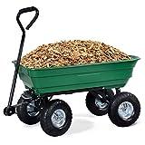 COSTWAY Gartenwagen Bollerwagen mit Kippfunktion Gartenkarre Gerätewagen Transportwagen Kippwagen Handwagen Handkarre 300KG 75L