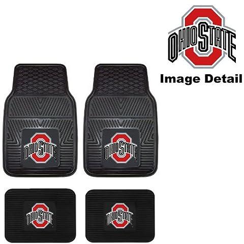 OSU Ohio State University Buckeyes Front & Rear Car Truck SUV Vinyl Car Floor Mats - 4PC by Fanmats