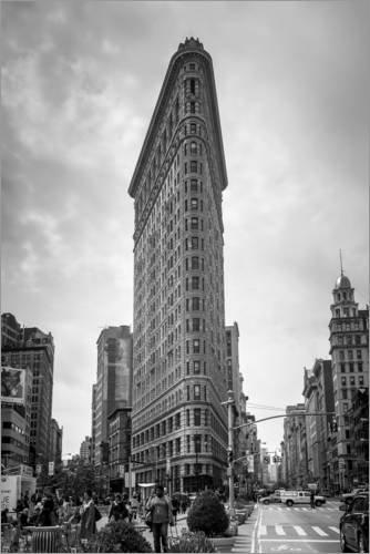 Posterlounge Acrylglasbild 100 x 150 cm: Flatiron Building in New York City von Axiom RF/Mauritius Images - Wandbild, Acryl Glasbild, Druck auf Acryl Glas Bild