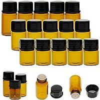 juanya 30Stück Bernstein Glas ätherisches Öl Flaschen 1ml 2ml 3ml Mini leer Probe Flaschen preisvergleich bei billige-tabletten.eu