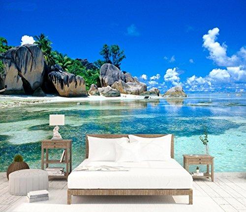 Leegt 3D Ocean Reef Tv Hintergrund Wandmalerei Wohnzimmer Esszimmer Schlafzimmer Sofa Nahtlose Strand Videos Hintergrundbilder 300cmX200cm (Strand Videos)