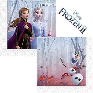 Disney Frozen 2- Servilletas, Color azul (Procos 99483)