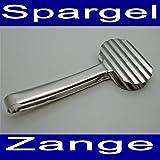 Edelstahl Spargelzange 24 cm, Spargel Serviel Portonier Küchen Fisch Greif Zange (LHS)