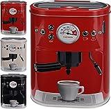 Contenitore per cialde di caffè con design di macchina espresso portafiltroPer cialde di caffè, caffè in polvere, cacao, zucchero, ecc., bianco, Grande