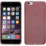 PhoneNatic Case für Apple iPhone 6 Plus / 6s Plus Hülle Silikon rosa brushed Cover iPhone 6 Plus / 6s Plus Tasche + 2 Schutzfolien