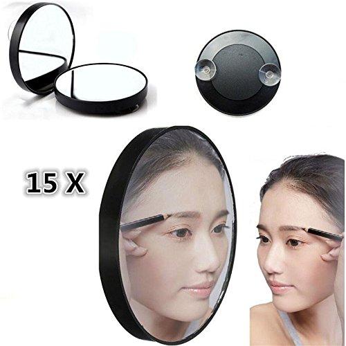 Msmask 15X Vergrößerungsspiegel 3.5' Saugnapf Frauen Makeup Gesicht Badezimmer Haus