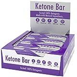 Barra De Cetonas (Caja De 12 Barras) | Snack Bar Ketogénico | Contiene C8 MCT Aceite Puro | Paleo & Keto | Sin Gluten | Sabor Caramelo De Chocolate | Ketosource®