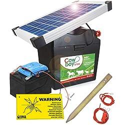Koll Living Cowboy B7000 Appareil de clôture électrique avec Batterie 12 V et Module Solaire 10 W sans Entretien - Batterie Rechargeable au Soleil - Fabriqué en Allemagne