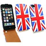 Emartbuy® Apple Iphone 5 5s Premium Flip Case / Cover / Tasche Union Jack