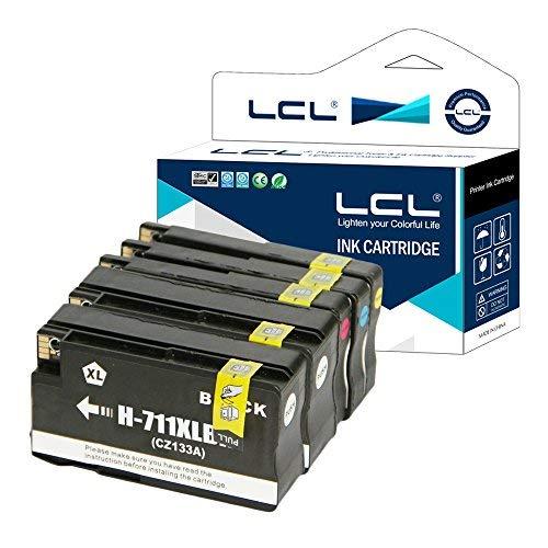 LCL(TM) 711 XL (5 Pack 2 Negro Cian Magenta Amarillo) Cartuchos de Tinta Compatible para HP Designjet T120 24 T120 610 T520 24 T520 36 T520 610 T520 914