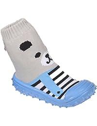 Baby pantofole calzini ABS suola in gomma scarpe ciabatte antiscivolo taglia 19–23(9–24mesi), versch.Colore