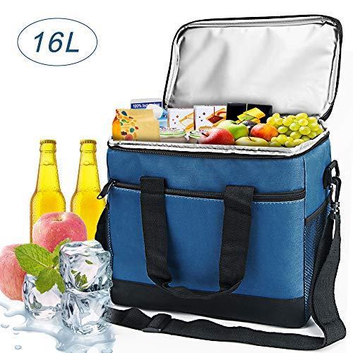 VANWALK Kühltasche Picknicktasche Thermotasche Oxford-Tuch 16L Wasserdichte für Camping Strand Reisen Kind Arbeit