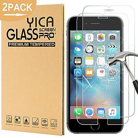 [2 Stück] iphone 6/6s Panzerglas Glasfolie Glas Schutzfolie ,Yica 0.25 mm 9H Hartglas Glasfolie Displayschutzglas Display Folie Screen Protector für iphone 6s/iphone (Glas Iphone)