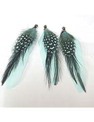 Thetastejewelry 5–8cm plumes naturelles Vert Lot) 25pcs–4728Apprêt création de bijoux