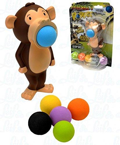 Affe Plopper inkl. 6 bunte Schaumstoffbälle