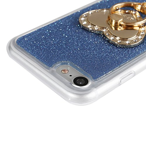 iPhone 7 Plus Bling Case, Per Apple iPhone 7 Plus Cover Silicone, Asnlove Custodia Flessible TPU Silicone Caso Bling Custodia in Gel Silicone Della Antiurto Strass Glitter Crystal Clear Cellulare Prot Color7