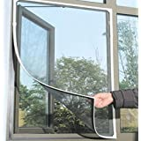 Shahji Creation Fiber Mosquito Net For Steel Framed Windows Insect Fly Bug Mesh Screen- Valcro Model