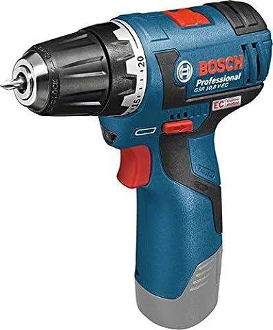Bosch Professional GSR 12 V-20 Akku-Bohrschrauber (ohne Akku, ohne Ladegerät, click&go, Solo Version, L-BOXX) 06019A4003