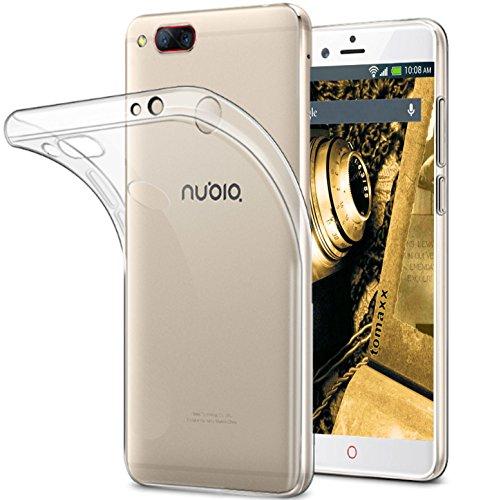 tomaxx Schutzhülle für Nubia Z17 Mini Hülle Case Tasche Durchsichtig in Transparent