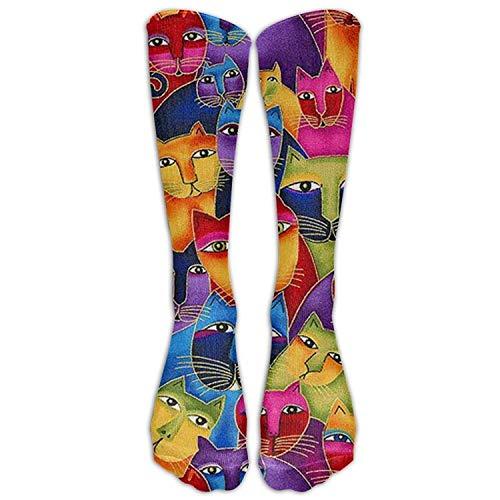 XIUZHIZH Gato Libre Womens Thick Knee High Warm Cotton Winter Socks Cotton Design Multi Color Knee High Socks -