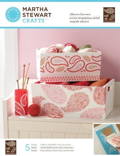Plaid: Craft Martha Stewart selbstklebend Siebdruck 21,6x 27,9cm 1Bogen/Pkg botanisch 4Designs Floral Paisley 5 Designs - Pkg-floral Design