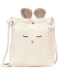 Rrimin Women PU Floral Printed Fashion Handbag Rope Shoulder Bag Shopping Bag