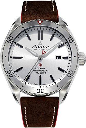 Alpina Alpiner Herren-Armbanduhr 44mm Leder Schweizer Automatik AL-525SS5AQ6