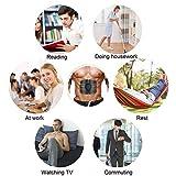 Smart Fitness-Gerät EMS Bauchmuskel Trainingsmaschine, Bauchgürtel Muskelaufbau ABS, Wireless Portable Bauch/Arm/Bein Trainer für Männer oder Frauen, von Hommie, Schwarz - 6