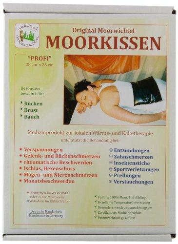 Preisvergleich Produktbild Original Moorwichtel Uni Profi Moorkissen, schwarz, 38 cm x 25 cm