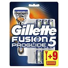 Idea Regalo - Gillette Fusion5 Proglide Lamette di Ricambio per Rasoio, Confezione da 10 Testine e 1 Manico Gratis