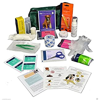 Warwick Whelping Boxes Pet First Aid Kit Comprehensive with paw print bandage CPR guide and Toxic foods leaflets… 12