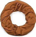 styleBREAKER unifarbener Jersey Loop Schal, Schlauchschal, Tuch, Unisex 01016115, Farbe:Cognac