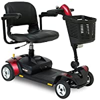 Pride Go-Go Elite Traveller LX Mobility Scooter with suspension seat, front light and high level charging point