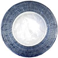 hamilworth nastro floreale colore blu royal metallizzato