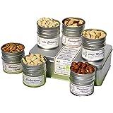 direct&friendly Bio Knackiges Kraftpaket Geschenkset mit 6 verschiedenen Bio Nüssen - Walnuss, Cashew, Haselnuss, Paranuss, Mandeln, Erdnuss