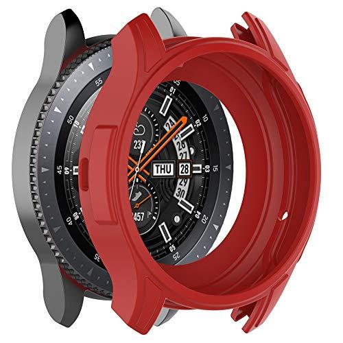 Schutzhülle Für Gear S3 Frontier/Galaxy Watch 46mm, Weiche TPU-Schutzhülle aus Silikon Schutzhülle Bildschirm Schutz Schutz überzug Shell Zum Verhindern von Kratzern, Stößen usw von BZLine (Rote Galaxy S3 Bildschirm Ersatz)