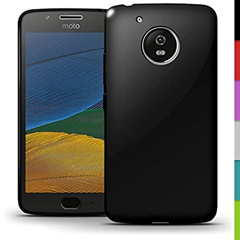 iGadgitz Solid Black Glossy TPU Gel Skin Case Cover for